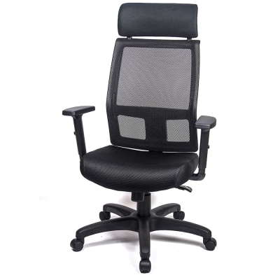 aaronation 愛倫國度 - 舒適頭枕透氣網背T把手電腦椅三色可選