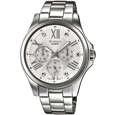 SHEEN 羅馬時刻SWAROVSKI風貌腕錶(SHE-3806D-7A)-銀/39.3mm