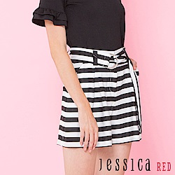 JESSICA RED - 輕甜條紋設計短褲