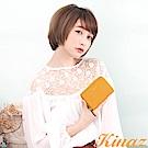 KINAZ 草帽女孩ㄇ字型短夾-柑橙黃-雛菊系列-快