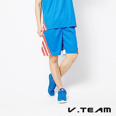 VTEAM 吸排籃球褲-中藍