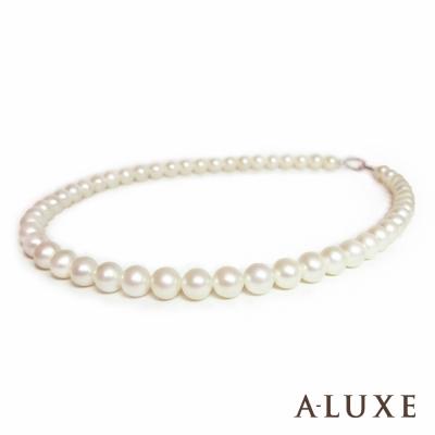 A-LUXE 亞立詩 天然淡水養珠 8.5mm 珍珠項鍊