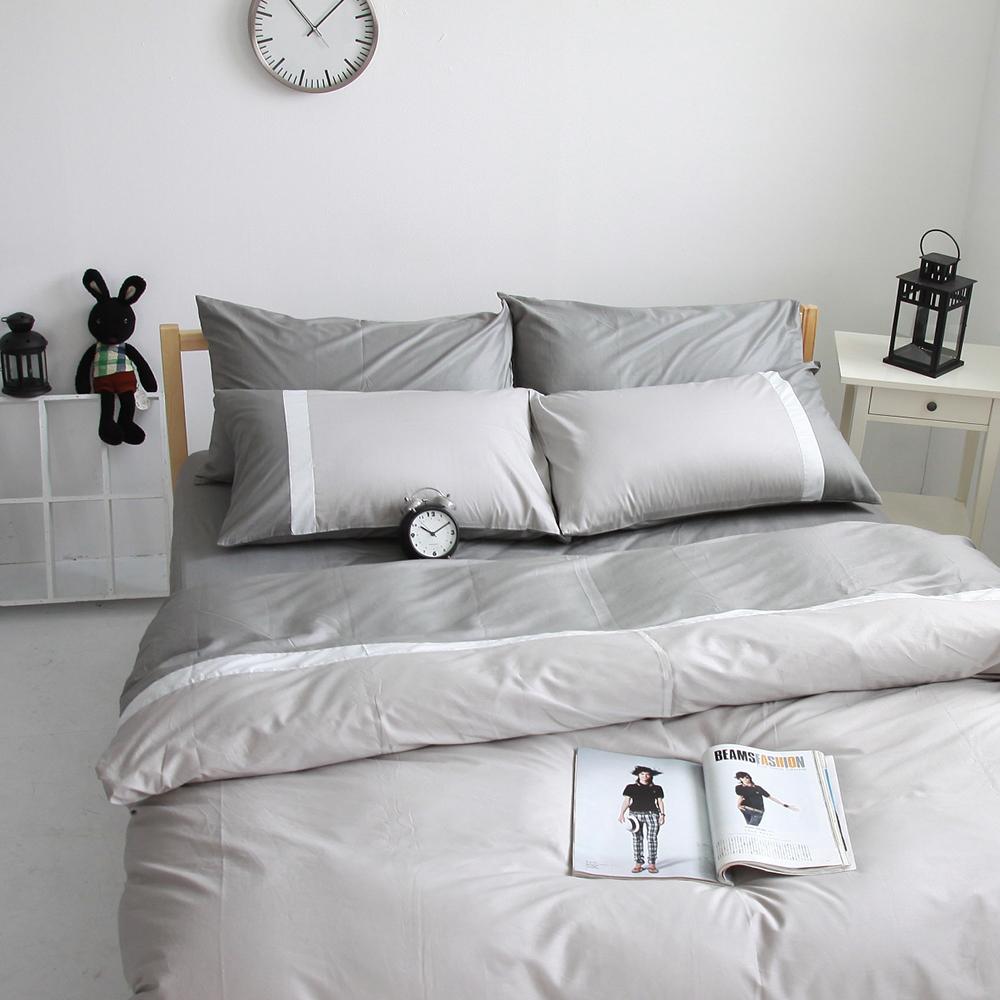 OLIVIA 鐵灰 銀白 銀灰  特大雙人床包被套四件組 素色無印