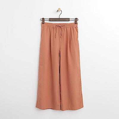 Hang Ten - 女裝 - 綁帶設計寬褲-橘紅色