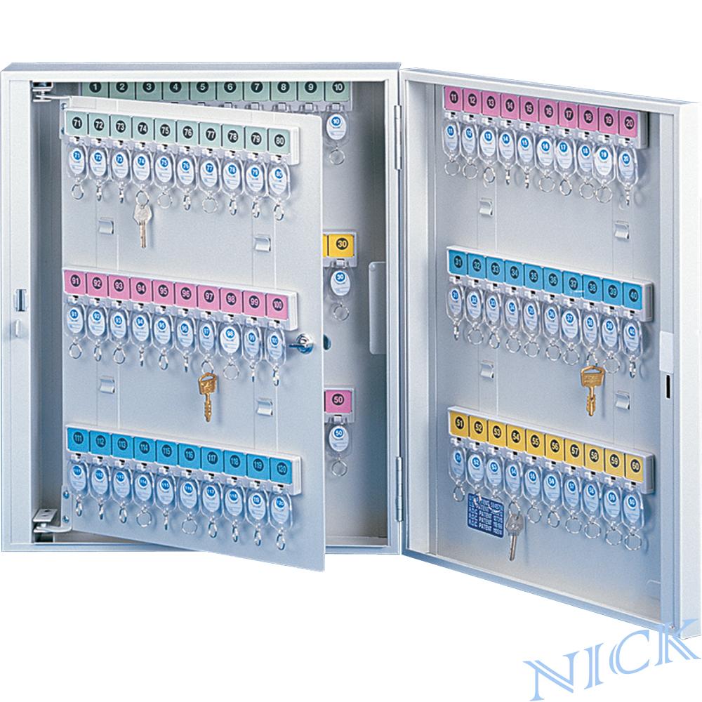 【NICK】乳白色靜電烤漆鋼製鑰匙管理箱_120支