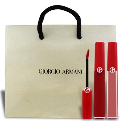 GIORGIO ARMANI(GA) 奢華絲絨訂製唇萃超值組