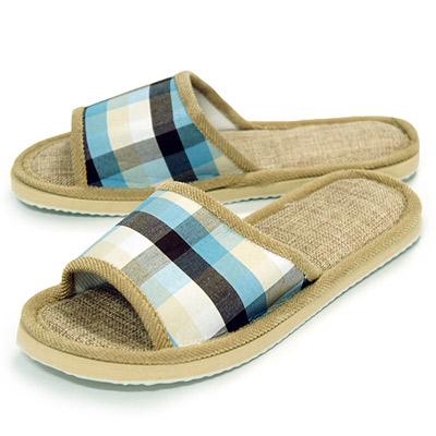 《布安於室》樸實室內拖鞋-藍(2雙入)