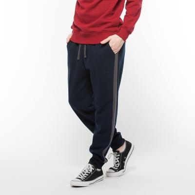 Hang Ten - 男裝 - 刷毛束口運動褲 - 深藍
