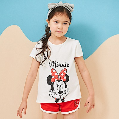 Disney 米妮系列運動甜心上衣短褲套裝 (共2色)