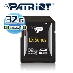 Patriot美商博帝 SDHC 32GB Class10記憶卡 (LX系列)