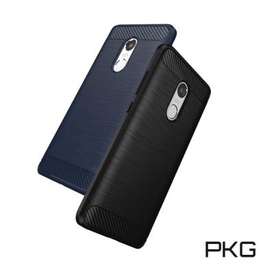 PKG 紅米NOTE4 抗震防摔保護殼(碳纖維紋系列-紳士黑)