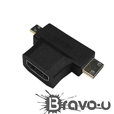 Bravo-u micro / mini HDMI 轉 HDMI 轉接頭(2入組)