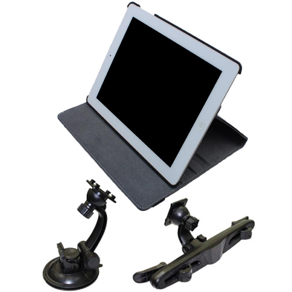 車架王 New iPad 三合一高質感皮套 + 前座車架 + 後座車架