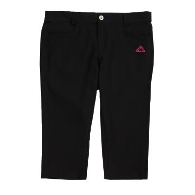 KAPPA義大利 女吸濕排汗平織TEFLON七分褲(寬鬆版) 黑