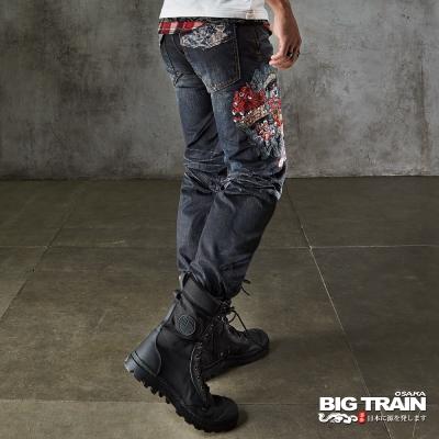 BIG TRAIN 出將三代小直筒褲-男-深藍
