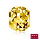 周大福 圓型立體切割18黃K金串珠