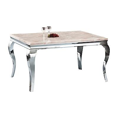 品家居 艾迪蒂5尺雲紋石面餐桌-150x90x75cm免組