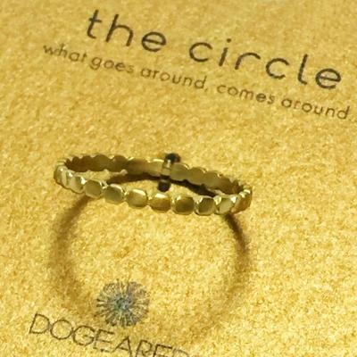 Dogeared 金色豆豆戒指 多墜細緻單環 Thin Circle 附原廠盒