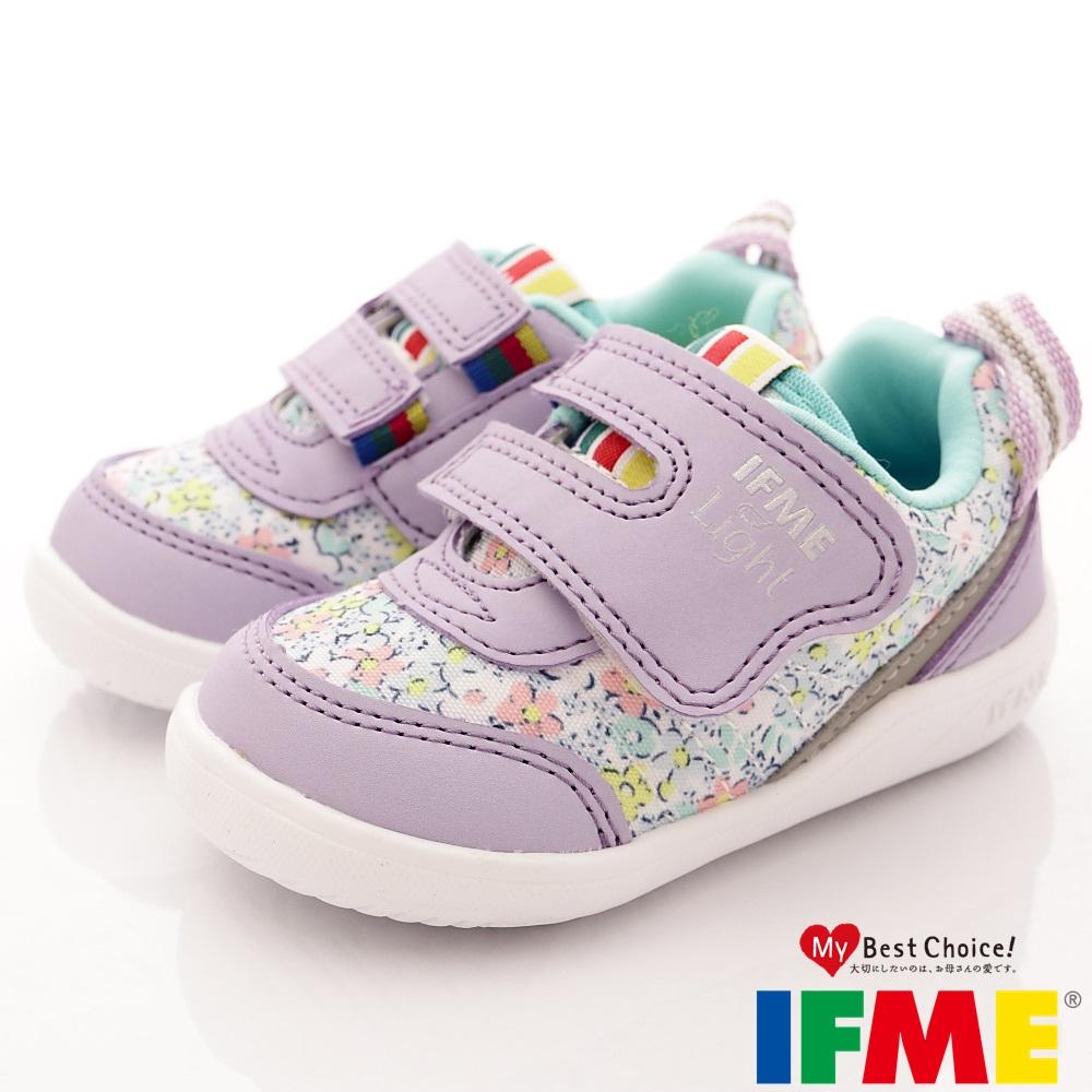 IFME健康機能鞋 輕量包覆學步款 EI00177 碎花紫 (寶寶段)