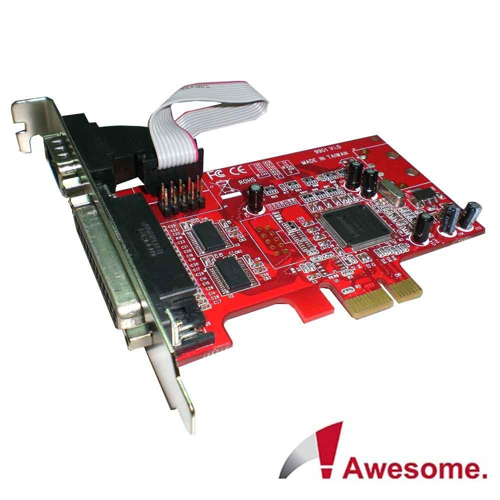 AwesomePCIe1埠Printer+2埠RS-232I/O卡-AWD-9901PR2