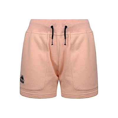 KAPPA義大利時尚女棉質運動短褲 蜜桃粉