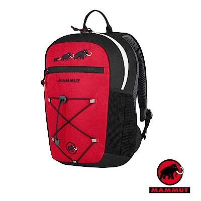 【瑞士 MAMMUT 長毛象】新款 First Zip 兒童背包16L_黑紅