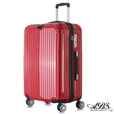 ABS愛貝斯 M8系列 24吋鏡面飛機輪旅行箱(紅)99-052B