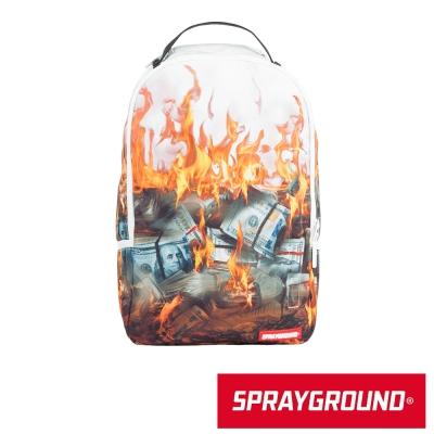 SPRAYGROUND DLX系列 White Fire Money 火燒美金 潮流後背包