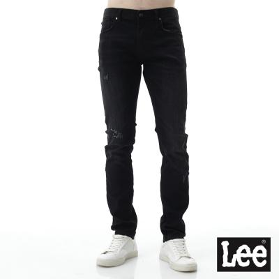 Lee 牛仔褲 709低腰合身直筒小破壞牛仔褲/UR- 男款-黑