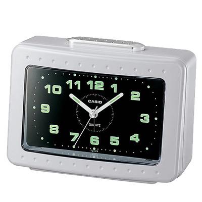 CASIO 桌上型指針長方形鬧鐘(TQ-329-7)-白