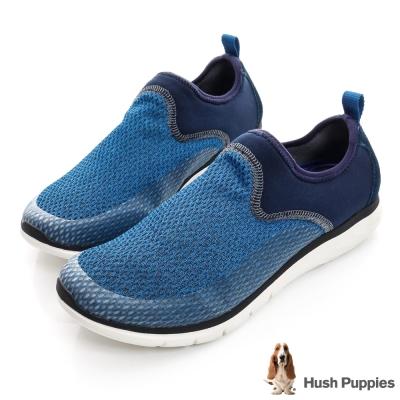 Hush Puppies LYFORD 輕量樂活健走鞋-藍色