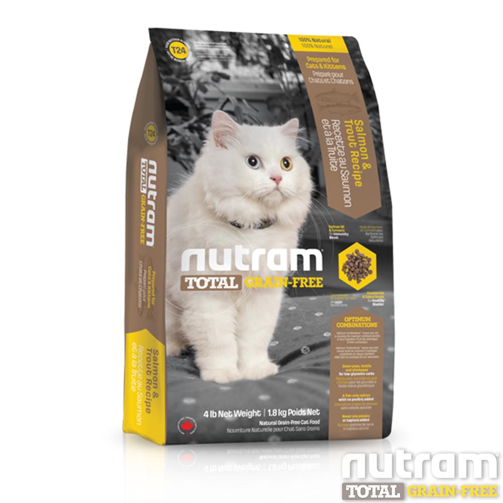 Nutram紐頓 T24無穀貓 鮭魚配方 貓糧 1.8公斤 x 1包