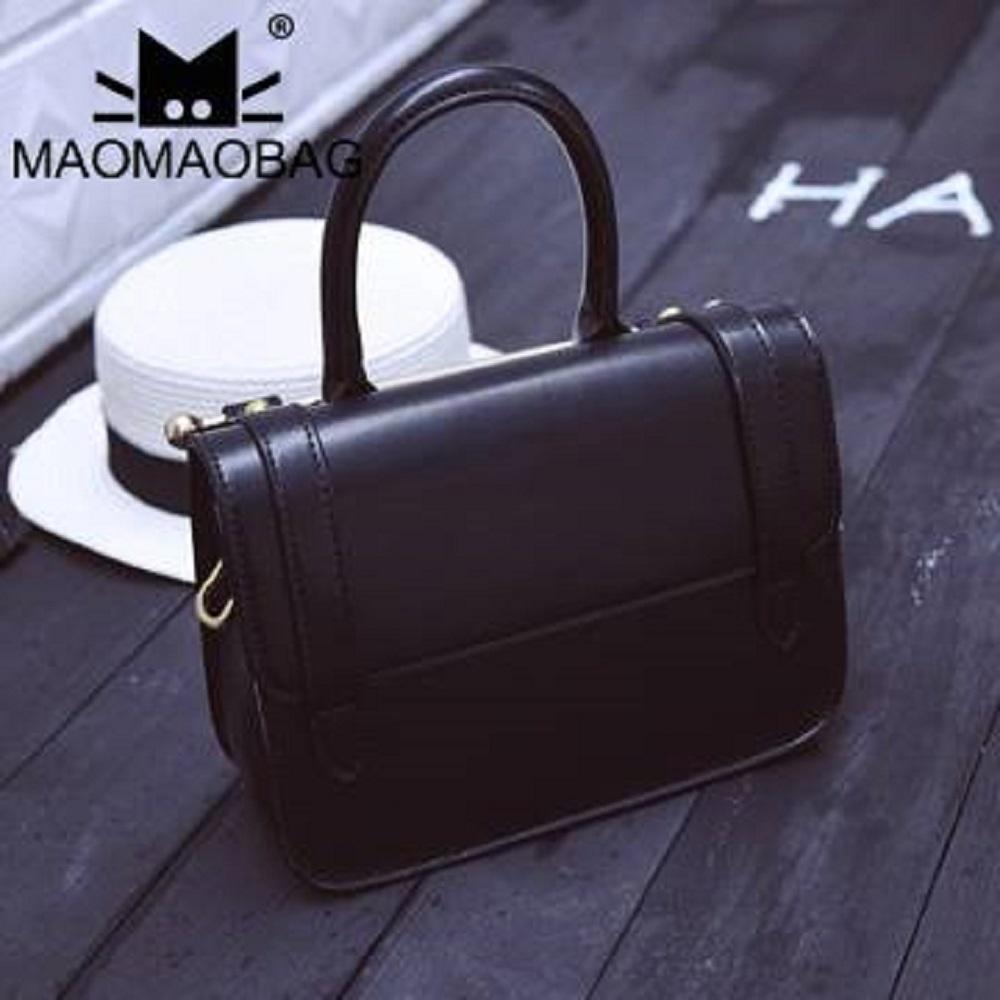 MaoMaoBag-時尚百搭單肩手提包-黑