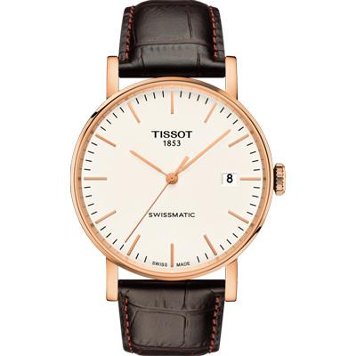 TISSOT 天梭Everytime 簡單生活  75 小時動力儲存機械錶-米白/ 40 mm