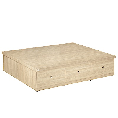 品家居 拉米6尺六抽收納床底(七色可選)-182x187.5x45cm免組