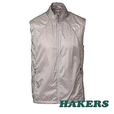 【HAKERS】男-超輕量防風防潑背心-銀河灰