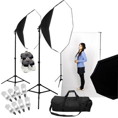 專業攝影棚大型八角90cm柔光無影罩雙燈KIT組