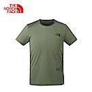 The North Face北面男款軍綠吸濕排汗透氣短袖T恤