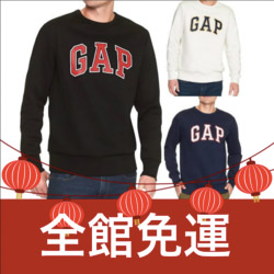 GAP LOGO 黑/白/藍 大學Tee