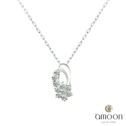 amoon 日式鉑金系列 流星 鉑金鑽石項鍊