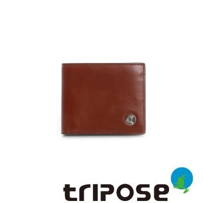 tripose   Yuppie系列原皮率性款男短夾 - 咖
