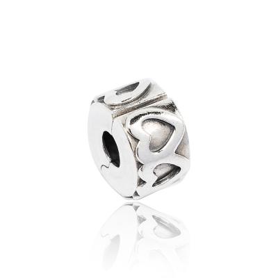 Pandora-潘朵拉-心形花純銀墜飾-串珠