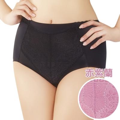 思薇爾 挺享塑系列M-XL高腰三角修飾褲(赤紫蘭)