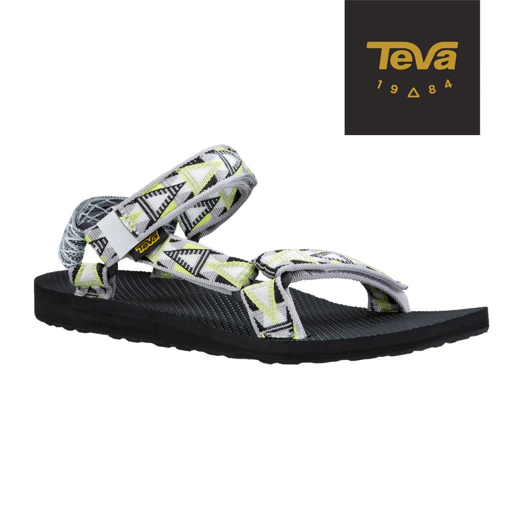 TEVA 美國-男 Original Universal 緹花涼鞋 (格菱灰)
