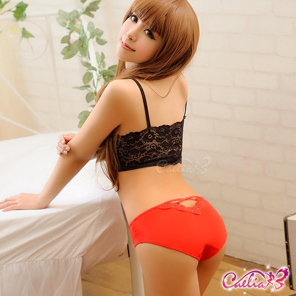 內褲 俏麗甜心內褲(紅)   Caelia
