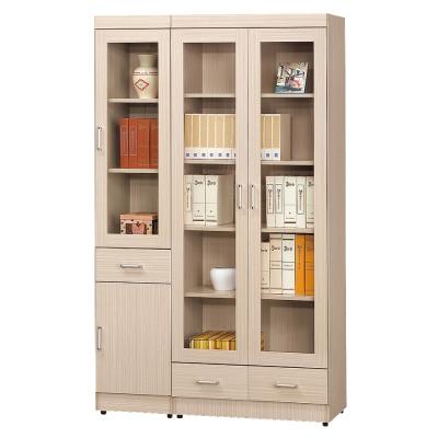 AS 史塔克白橡色3.9尺書櫥 119x32x185cm