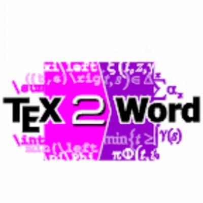 TeX2Word單機版 (下載)