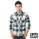 Lee 長袖襯衫 法蘭絨 -男款-綠藍格紋