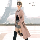 東京著衣-yoco 安琪聯名法國女人麂皮絨風衣外套-S.M.L(共二色)