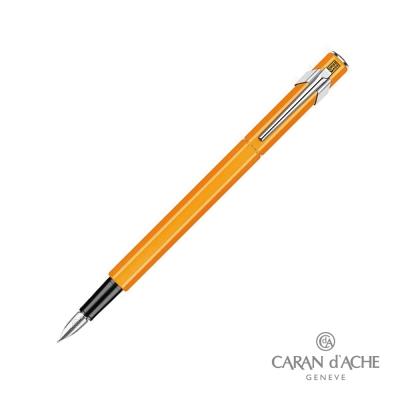 CARAN dACHE 卡達 - Office│line 849 鋼筆 螢光橘